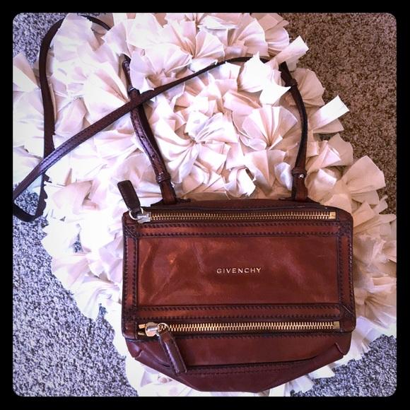176e8896fc63 Givenchy Handbags - Auth Givenchy mini Pandora vintage leather look😍